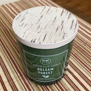 DW Home Balsam Forest Wooden Wick Candle